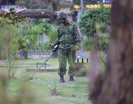 Công binh làm nhiệm vụ dò mìn trong khuôn viên khách sạn JW Marriott