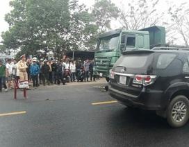 Chiến sĩ công an tử vong trên đường sau va chạm với xe tải