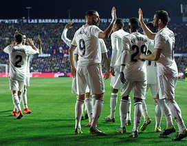 Levante 1-2 Real Madrid: Bale, Benzema ghi bàn trên chấm penalty