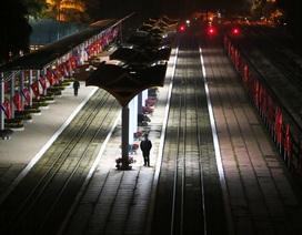 Ga Đồng Đăng trong đêm chờ đón đoàn tàu bọc thép Triều Tiên