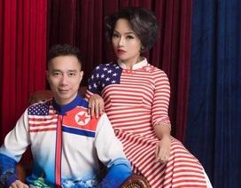 """NTK Đỗ Trịnh Hoài Nam và ca sĩ Thái Thuỳ Linh """"ăn ý"""" trong BST áo dài đặc biệt"""