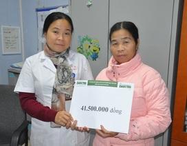 Hơn 41 triệu đồng đến với gia đình ông Phạm Xuân Hiệu