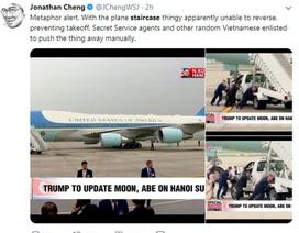 Xe thang chuyên cơ của Tổng thống Trump trục trặc tại sân bay