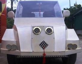 """9x Nghệ An tự chế """"siêu xe"""" từ động cơ xe máy"""
