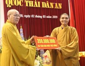 Học viện Phật giáo tiếp nhận hơn 10 tỷ đồng tiền công đức xây dựng giảng đường