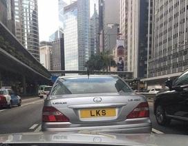 Thú chơi biển số xe độc nhất vô nhị của các tỷ phú Hồng Kông
