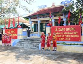 Hàng ngàn người tham gia Lễ Tưởng niệm 132 năm Ngày mất danh nhân lịch sử Lê Thành Phương