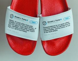 Bán hàng bá đạo: Dép in hình Twitter Tổng thống Trump, thu hàng chục tỷ