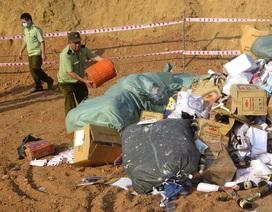 Quảng Ngãi: Tiêu hủy hàng hóa vi phạm trị giá trên 600 triệu đồng