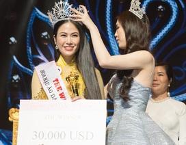 Giọng ca xứ Thanh đăng quang Hoa hậu áo dài Việt Nam 2019
