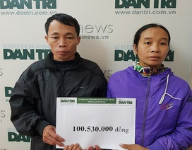 Hơn 100 triệu đồng đến với gia đình bé gái lớp 8 bỗng dưng mắc bệnh tâm thần