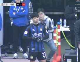 Công Phượng vào sân ở phút bù giờ, Incheon United giành chiến thắng đầu tiên