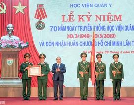 Thủ tướng: Học viện Quân y cần trở thành đơn vị đào tạo hàng đầu của Việt Nam