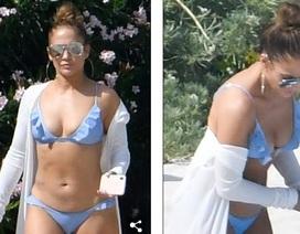 Jennifer Lopez khoe dáng săn chắc trên bãi biển