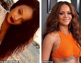 Cô gái khổ sở vì quá giống Rihanna