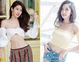 Mỹ nữ Thái Lan phô bày đường cong với áo crop top