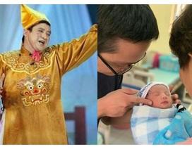 """""""Táo Giao thông"""" Chí Trung lên chức ông nội"""