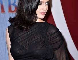 """""""Bond girl"""" Eva Green quyến rũ với váy đen xuyên thấu"""