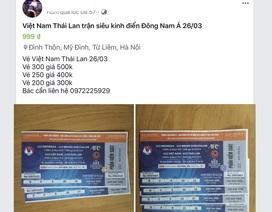 """Chợ vé online kém sôi động trước trận bóng """"kinh điển"""" Việt Nam - Thái Lan"""