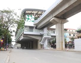 Nhiều chi tiết nhà ga tàu điện Cát Linh - Hà Đông đã hư hỏng