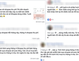 """""""Chủ shop"""" online than trời trên mạng xã hội vì Shopee bất ngờ thu phí"""