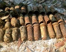Phát hiện, di dời 85 quả đạn pháo gần khu dân cư