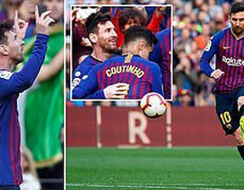 Barcelona 2-0 Espanyol: Lionel Messi rực sáng