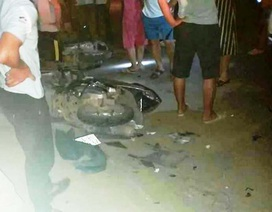 Ô tô 7 chỗ tông hàng loạt xe máy, 1 người chết, 3 người bị thương
