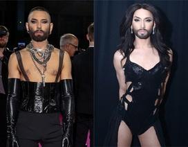 Nam ca sỹ đồng tính Conchita Wurst bất ngờ cạo trọc đầu