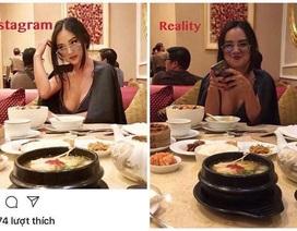 """Cô gái nổi tiếng """"bốc lửa"""" trên instagram trần tình về việc lộ ảnh thật kém sắc"""