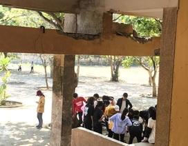 """Quảng Ngãi: Chỉ đạo kiểm tra ngôi trường """"vừa học vừa run"""" ở Lý Sơn"""