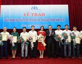 Phóng viên Dân trí đoạt giải Nhì báo chí quốc gia về an toàn giao thông