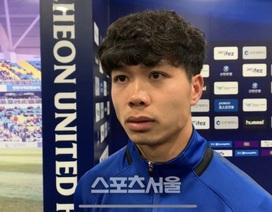"""Báo Hàn Quốc: """"Công Phượng chơi hay nhưng chưa thể ghi bàn"""""""