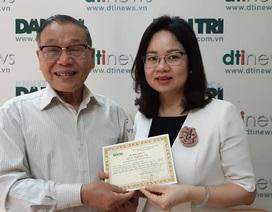 Tập đoàn Tân Hoàng Minh ủng hộ 60 triệu đồng giúp xây dựng phòng học tại tỉnh Phú Thọ