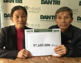 Gần 98 triệu đồng đến với gia đình bác Mỳ có 3 con bị ung thư