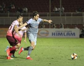 Đội đầu bảng TPHCM đứt mạch toàn thắng tại V-League