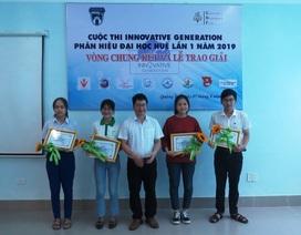 Quảng Trị: Trao giải thưởng 5 dự án xuất sắc cuộc thi sáng tạo Innovative Generation