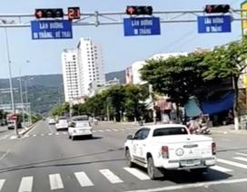 Đoàn xe nối đuôi nhau vượt đèn đỏ tại Đà Nẵng: Một hãng ô tô sở hữu xe vi phạm