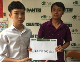 Hơn 61 triệu đồng đến với cậu bé Quyền mồ côi