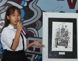 Nữ sinh Trà Vinh đoạt giải Nhất thiết kế với tác phẩm miêu tả tinh tế Sài Gòn