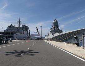 Chiến hạm Hải quân Ấn Độ chính thức thăm cảng Cam Ranh