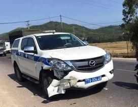 Xe CSGT va chạm khi tuần tra, 1 người tử vong