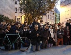 Người dân Paris bật khóc quỳ gối cầu nguyện khi lửa nhấn chìm Nhà thờ Đức Bà