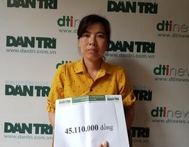 Hơn 45 triệu đồng của bạn đọc Dân trí trợ giúp gia đình cô Duyên