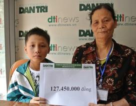 Bạn đọc Dân trí giúp cậu bé bị ung thư vòm họng hơn 127 triệu đồng