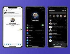"""Facebook trang bị """"giao diện bóng đêm"""" trên Messenger cho người dùng toàn cầu"""