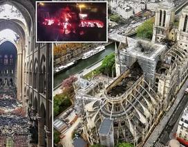 Nhà thờ Đức Bà Paris ngổn ngang, hư hại sau vụ hỏa hoạn kinh hoàng