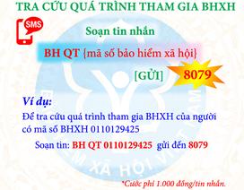 Tự tra cứu thông tin hưởng BHXH, BHYT bằng tin nhắn di động