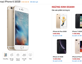 Sau 5 năm, iPhone 6 chính thức khai tử tại Việt Nam
