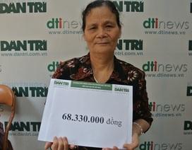 Hơn 68 triệu đồng tiếp tục đến với cậu bé Dương bị ung thư vòm họng